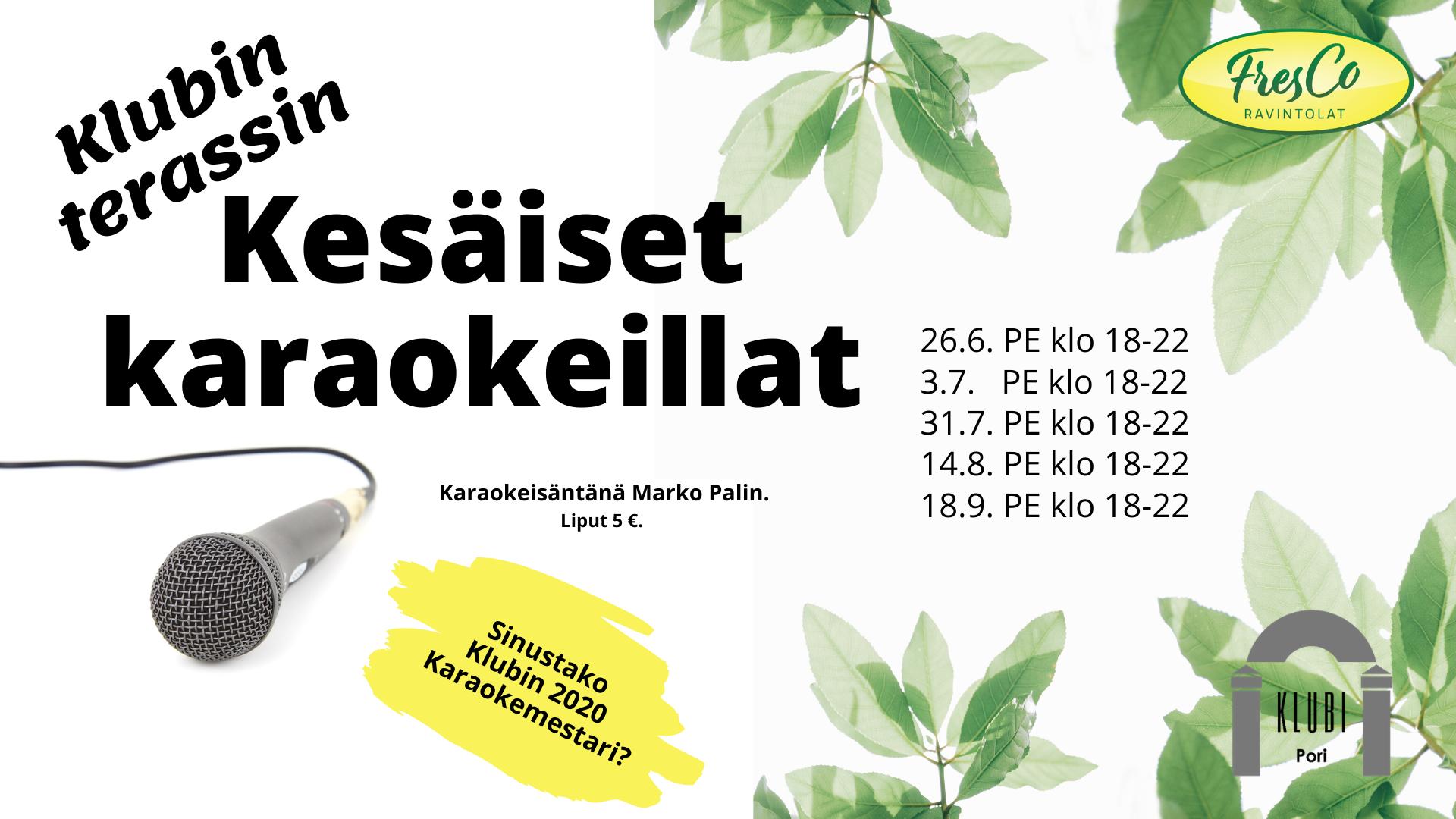 Kesäinen karaokeilta Klubin terassilla 4/5