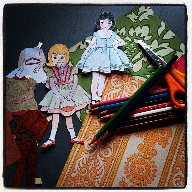 Lasten kesätyöpaja: Paperinukkeja