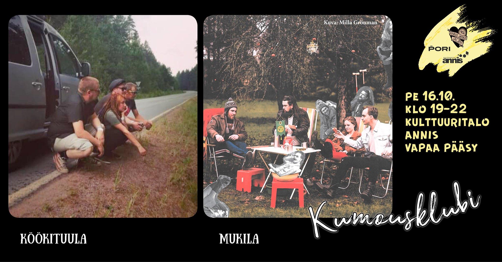 Kulttuuritalo Annis: Kumousklubilla Köökituula ja Mukila