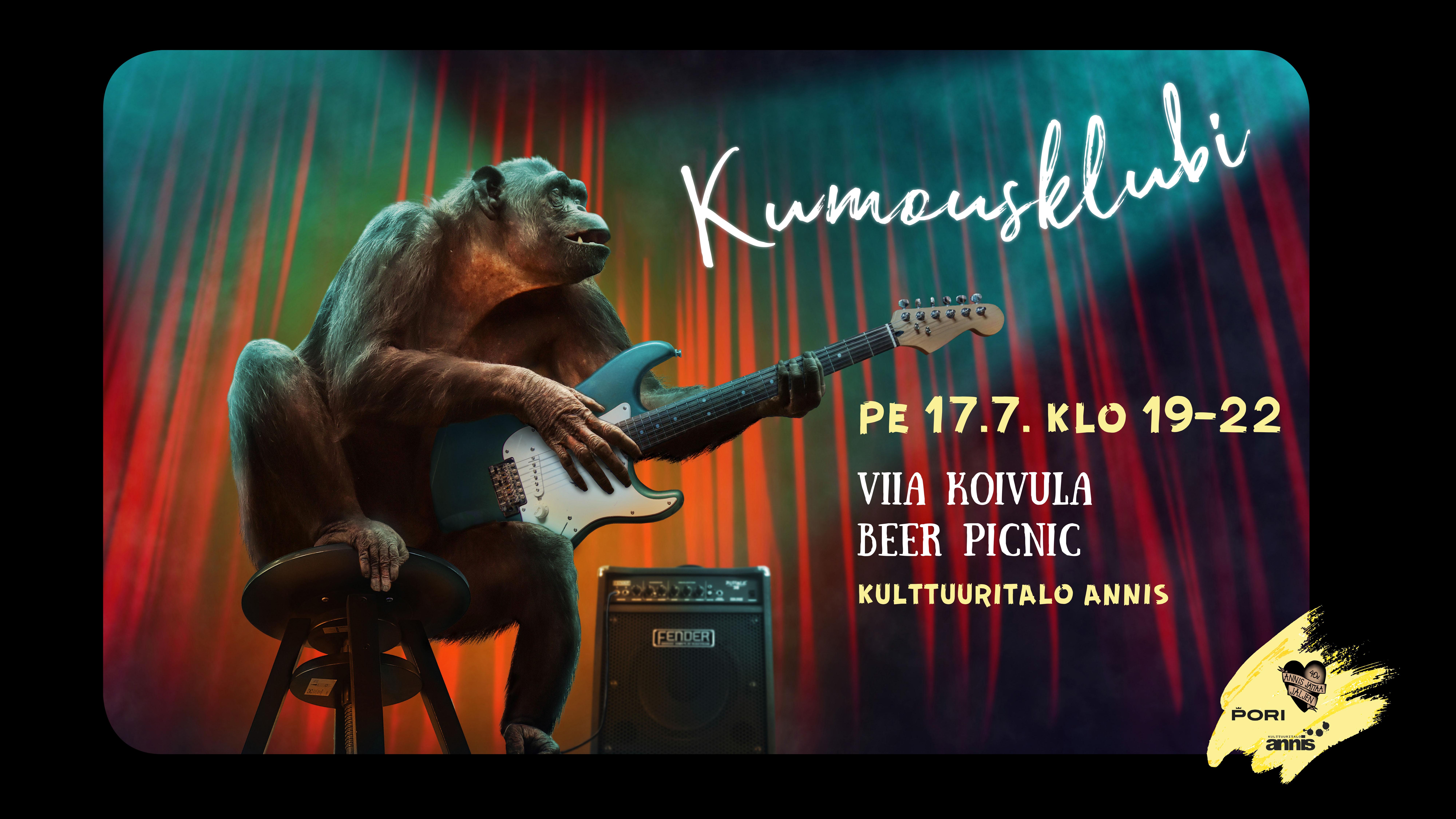 Kulttuuritalo Annis: Kumousklubi, Viia Koivula, Beer Picnic