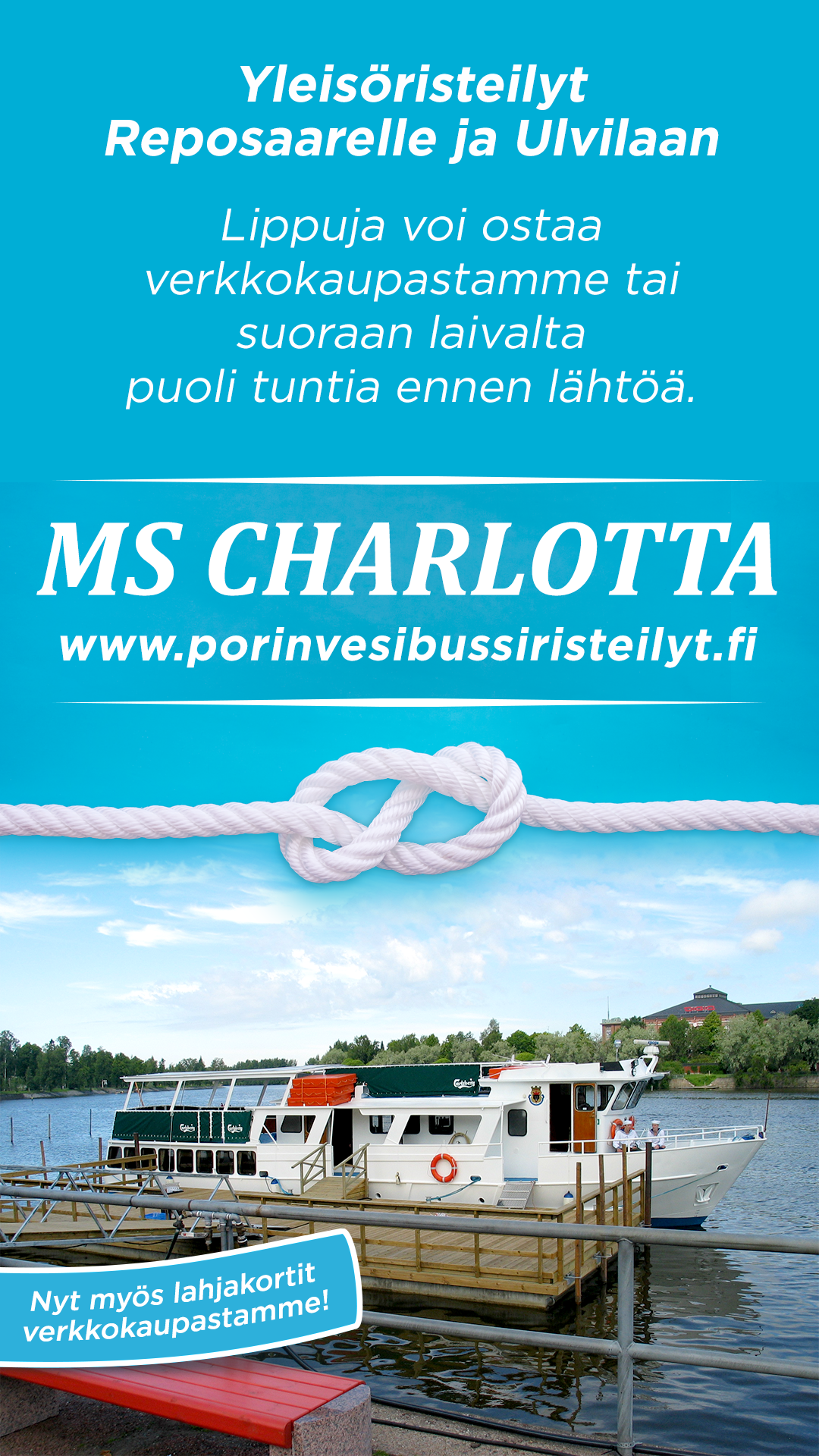 Yleisöristeily Porista Reposaareen ke 29.7