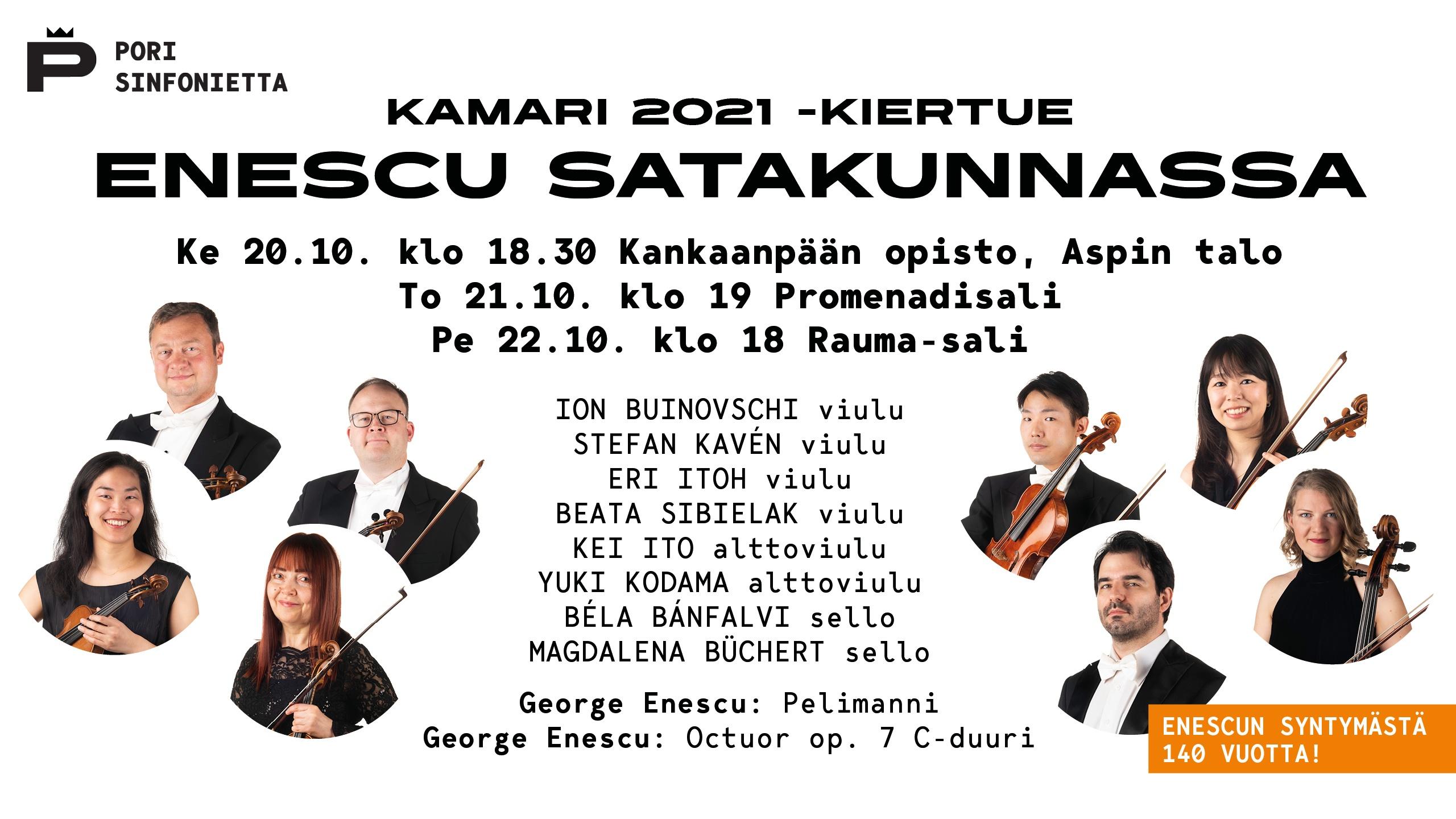 Kamari 2021 -kiertue: Enescu Satakunnassa – Pori