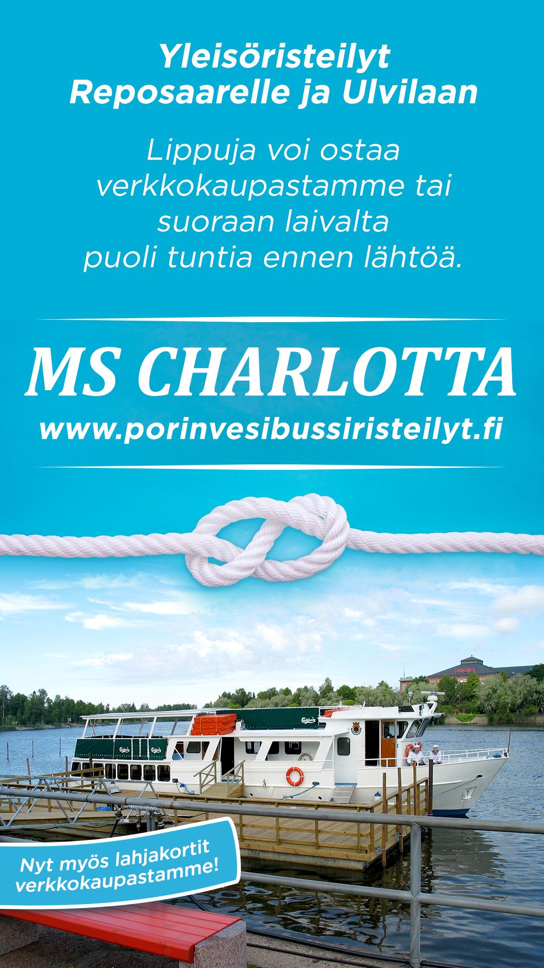 Yleisöristeily Porista Reposaareen su 9.8